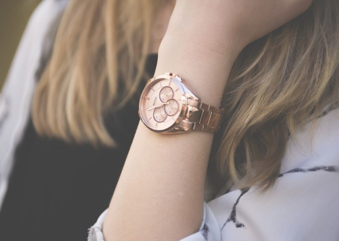 BOSS 1502360 Chronograph Rose Gold-Plated Stainless Steel Watch