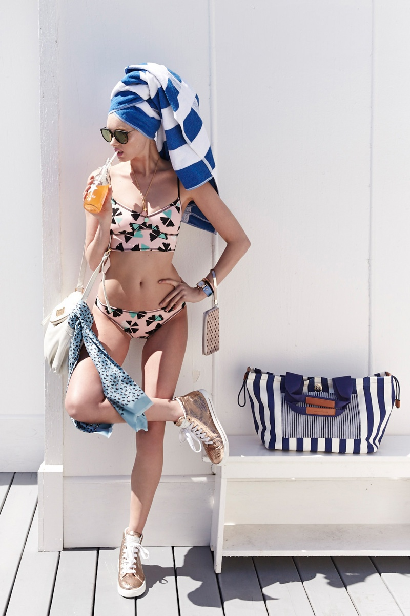 Elsa Hosk Models Marc by Marc Jacobs Swimsuits Lookbook for Shopbop