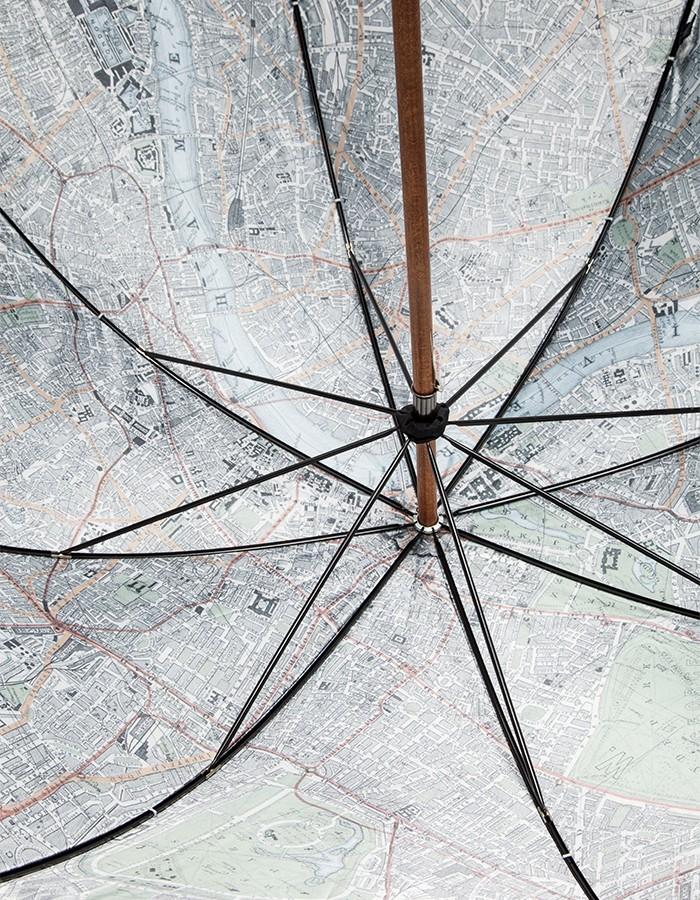 London Undercover Vintage London Map Umbrella