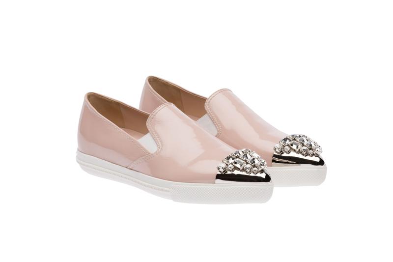 Miu Miu Pointy Toe Slip-On Sneakers 02