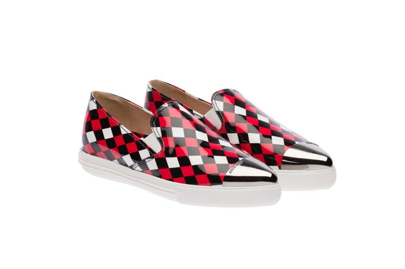 Miu Miu Pointy Toe Slip-On Sneakers 03