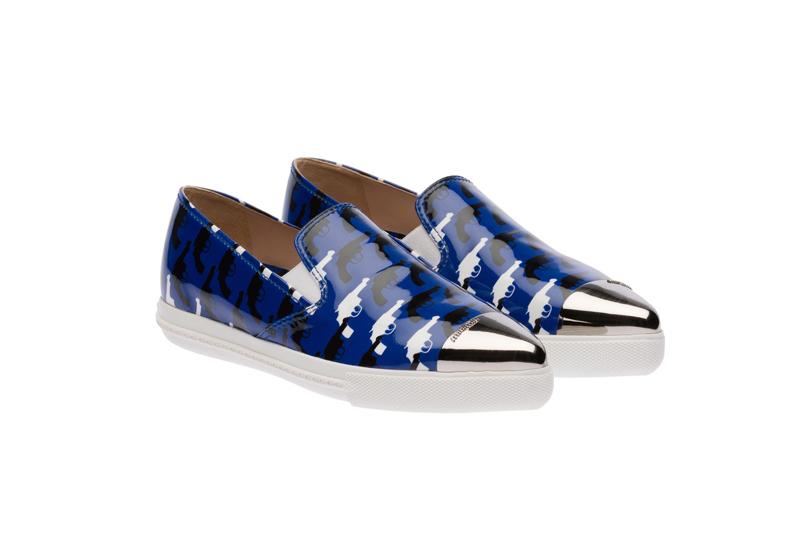 Miu Miu Pointy Toe Slip-On Sneakers 07