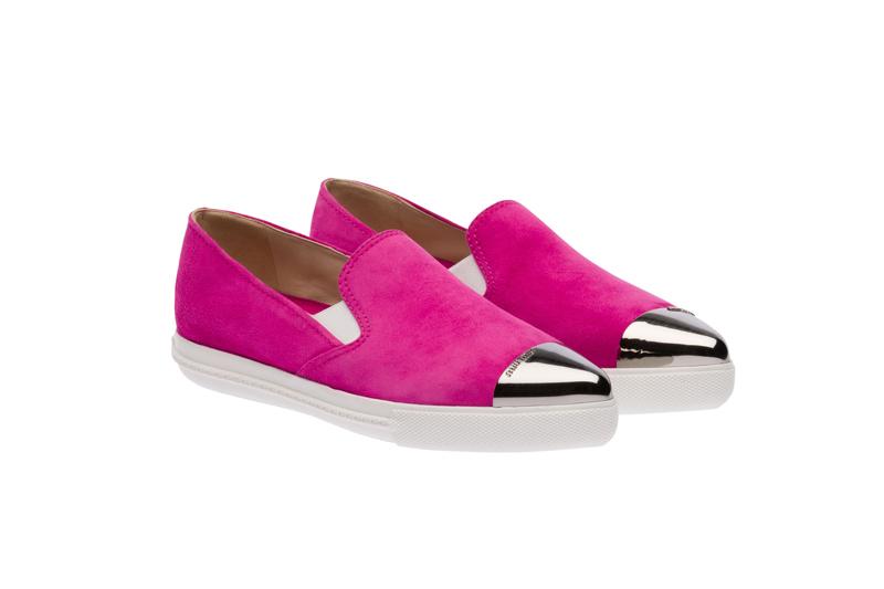 Miu Miu Pointy Toe Slip-On Sneakers 09