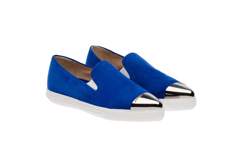 Miu Miu Pointy Toe Slip-On Sneakers 10