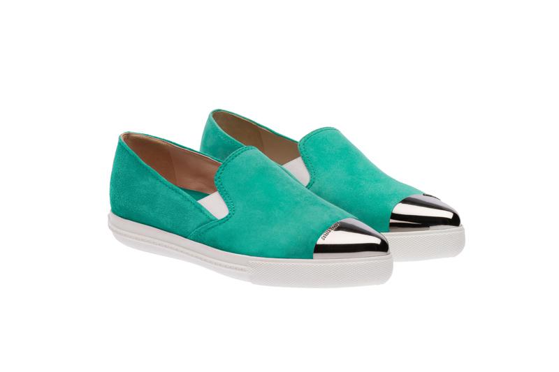 Miu Miu Pointy Toe Slip-On Sneakers 11