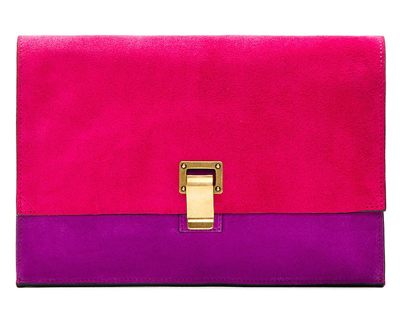 Proenza Schouler x SSENSE Exclusive Fuchsia Suede Small Lunch Bag Clutch