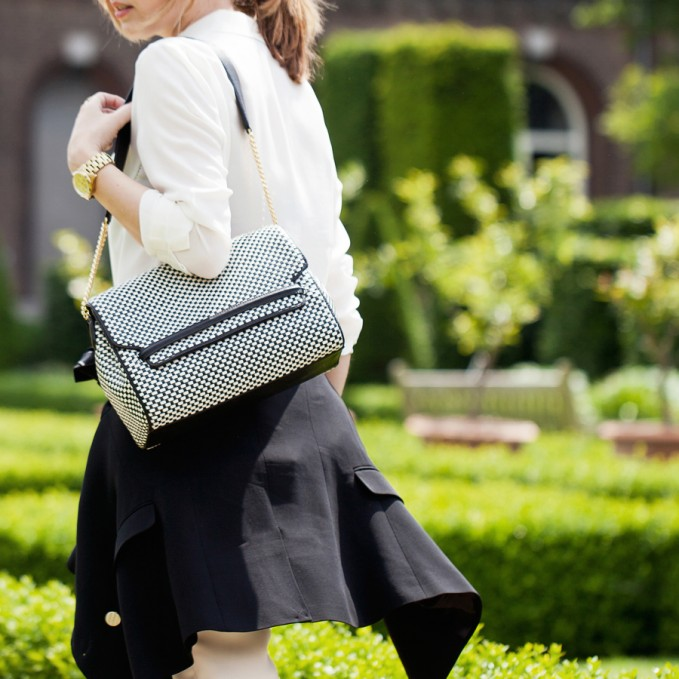 Reiss Lara Weave Weave Handbag