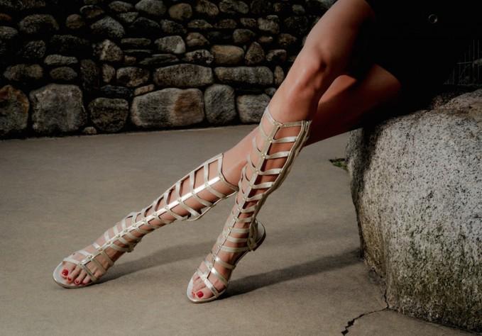 Stuart Weitzman Metallic Gladiator Sandals outlet low price fee shipping KS85uyzZ