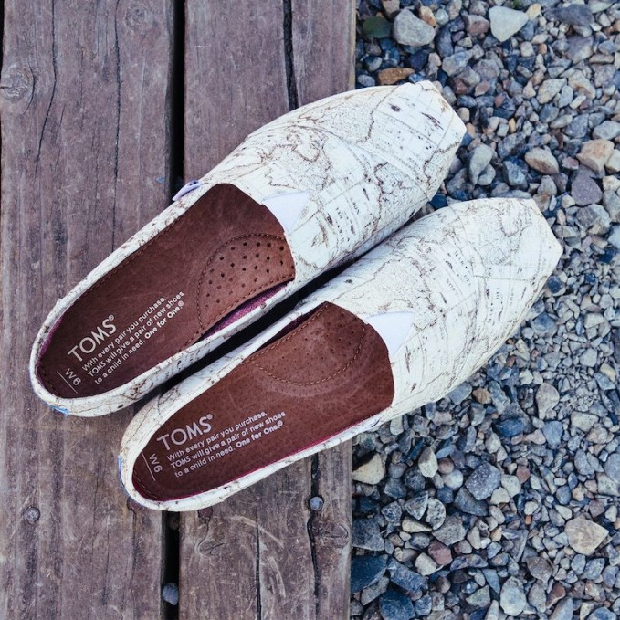 TOMS Classic Voyage Map Slip-On