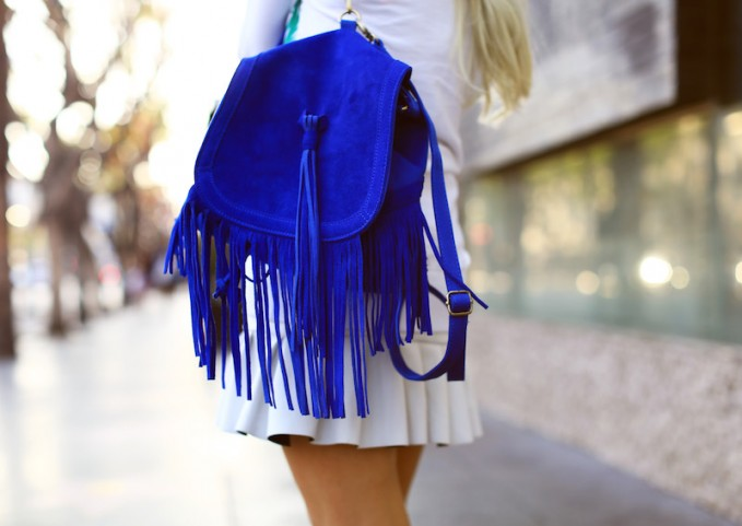 Urban Outfitters Angela Suede Fringe Backpack