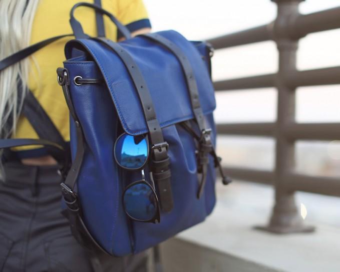BCBG Max Azria Addison Buckle-Strap Backpack