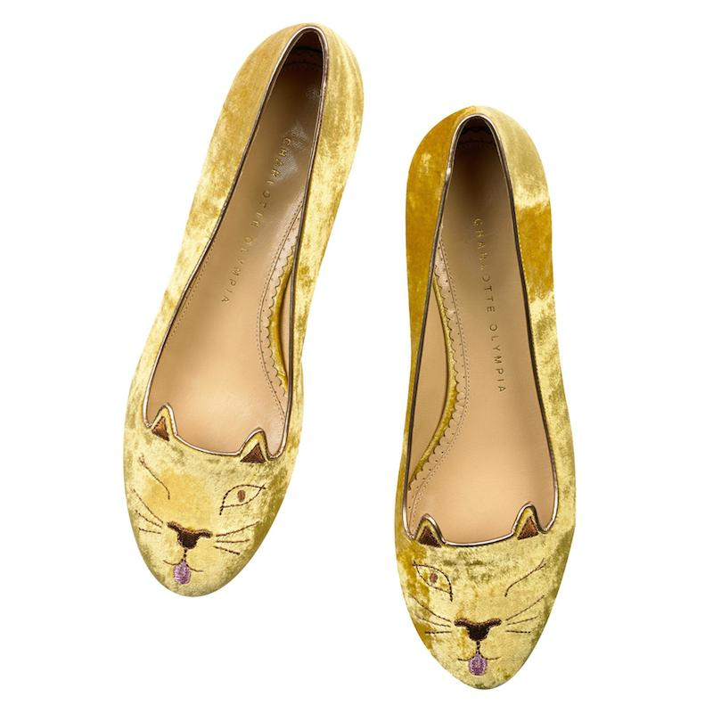 Charlotte Olympia Cheeky Kitty Flats