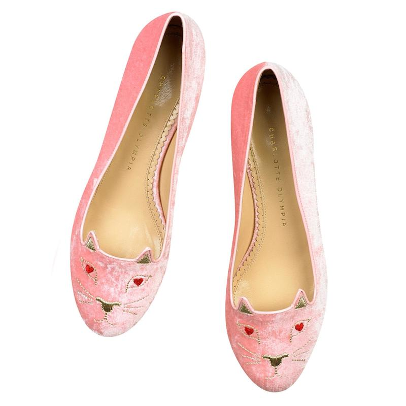 Charlotte Olympia Love Kitty Flats