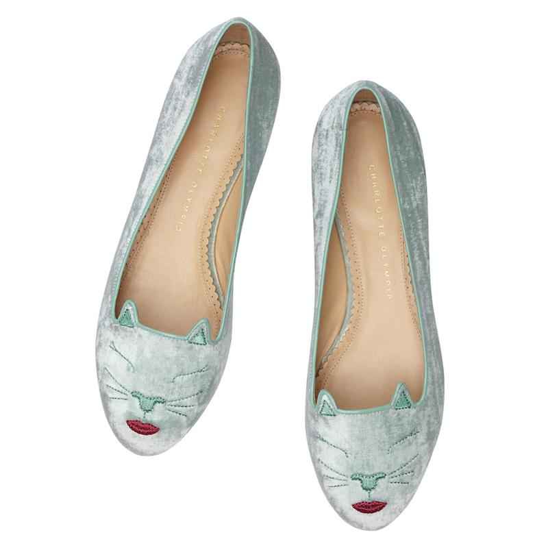 Charlotte Olympia Pouting Kitty Flats