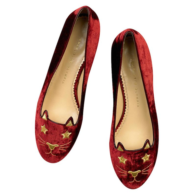 Charlotte Olympia Superstar Kitty Flats