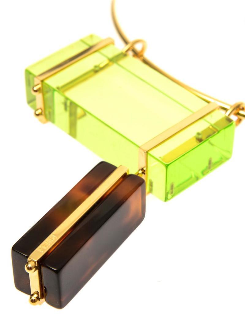 Fendi Colour-block Necklace_1