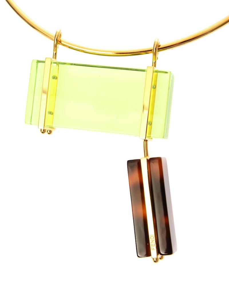 Fendi Colour-block Necklace_2