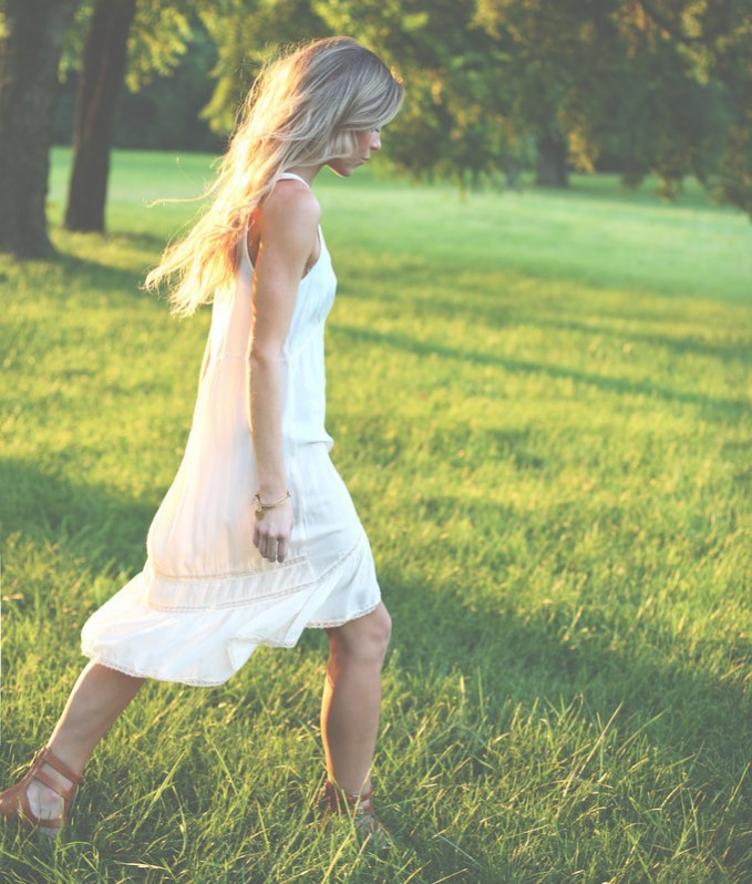 Free People Parisian Lace Trim Slip Dress