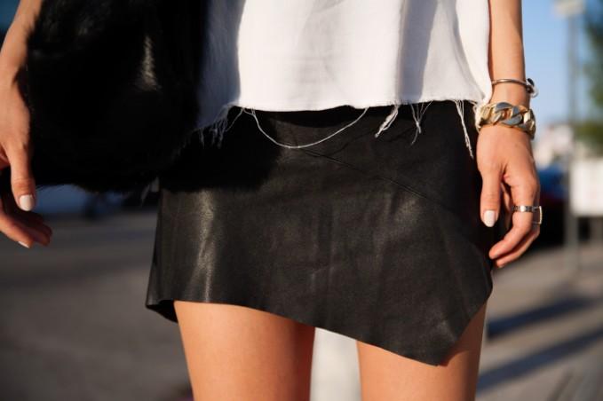Friend of Mine Vampire Leather Mini Skirt