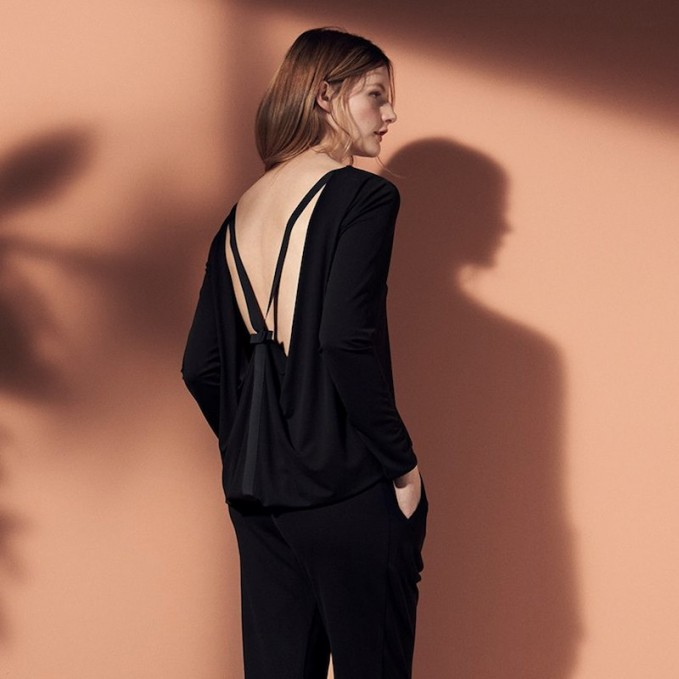Issa Sally Open-back Jersey Top