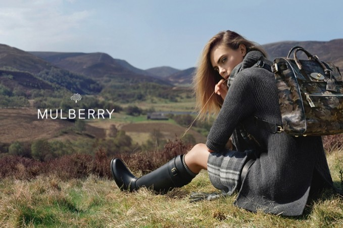 Mulberry Fall 2014 AD Campaign by Cara Delevingne