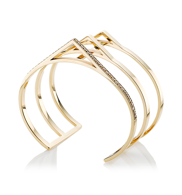Sophia Three Bar Triangle Open Cuff by Paige Novick