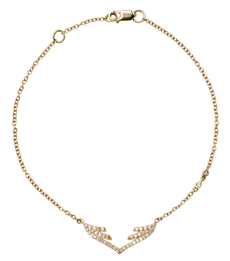 Stella Wing Chain Bracelet by Paige Novick