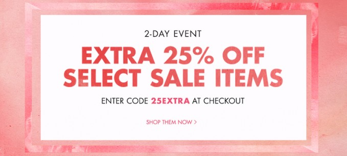 Take An Extra 25% off Select Sale Items at Shopbop