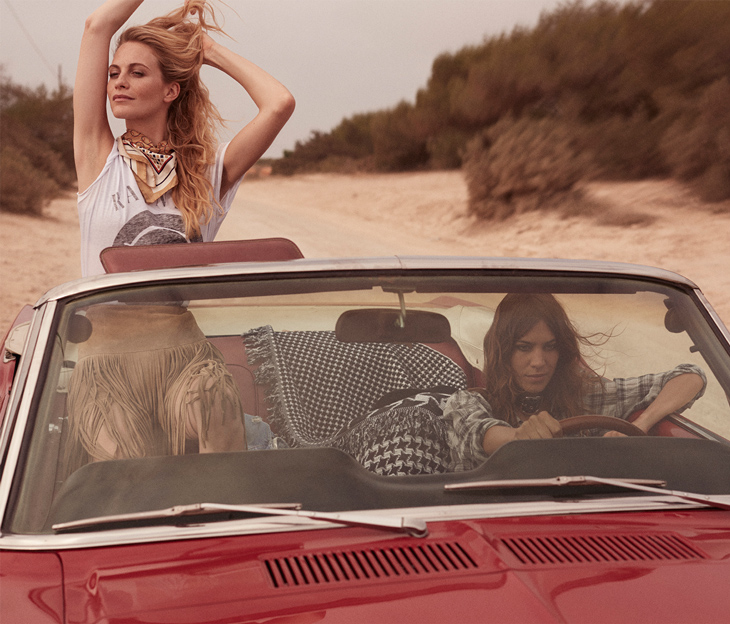 The Trip Poppy Delevingne & Alexa Chung for The EDIT