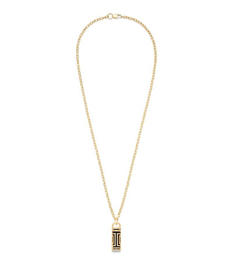 Tory Burch for Fitbit Metal Fret Pendant Necklace