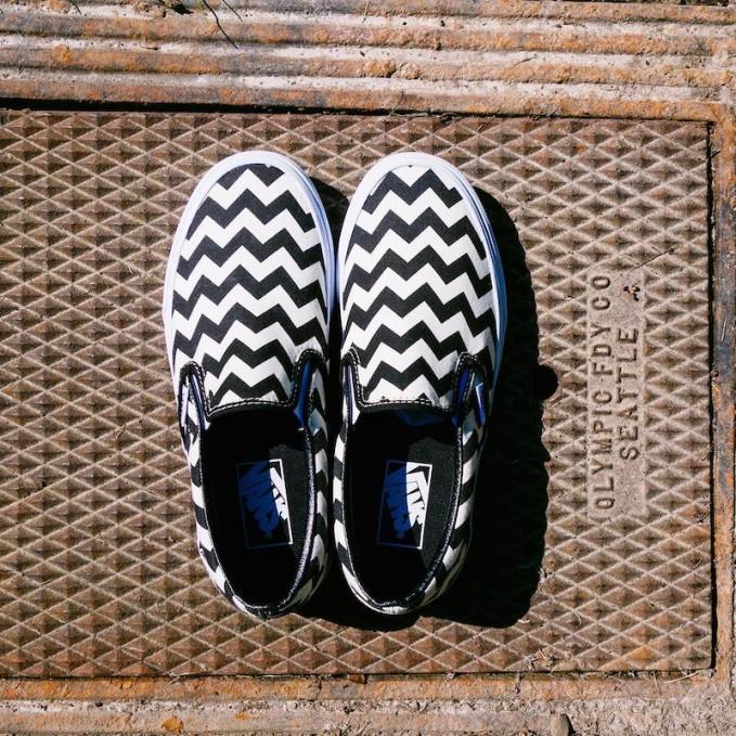 Vans Chevron Classic Slip-on Sneakers