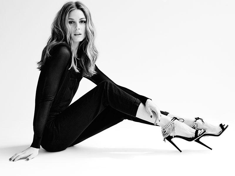 AQUAZZURA x Olivia Palermo Embellished Suede Sandals