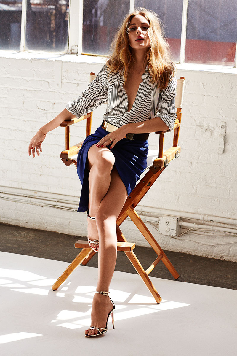 AQUAZZURA x Olivia Palermo Mirrored-Leather Sandals