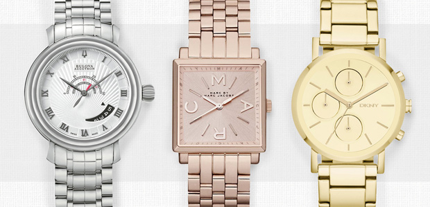 Add Some Polish: Metal Watches for Women & Men at Rue La La