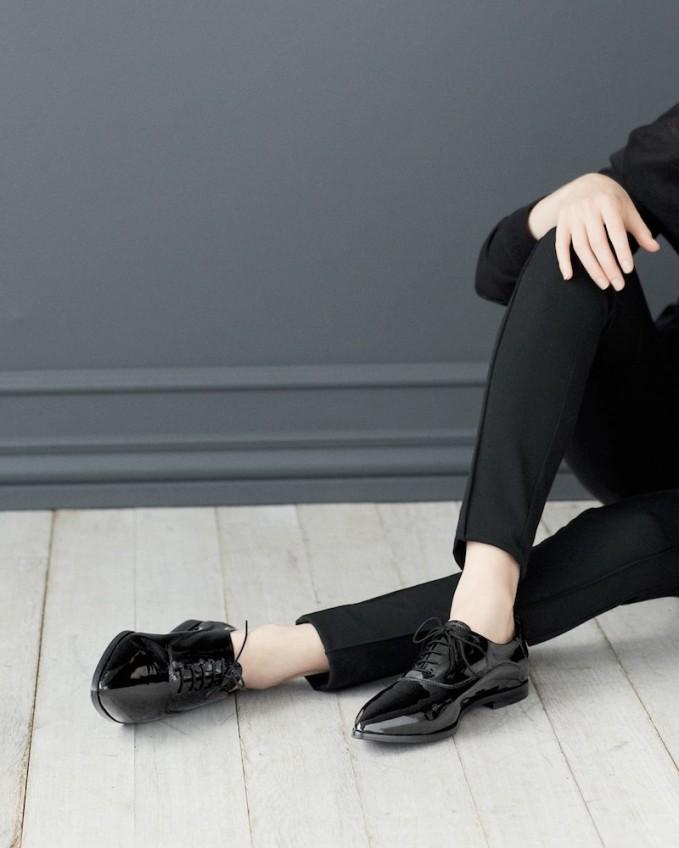 Attilio Giusti Leombruni Patent Leather Pointy Toe Oxford