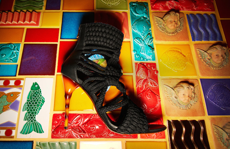 Balmain Braided Rope Sandals