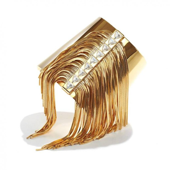 CA&LOU Fringe All Over Cuff Bracelet