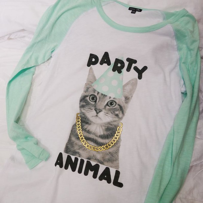 COZY ZOE 'Party in the USA - Party Animal' Nightshirt