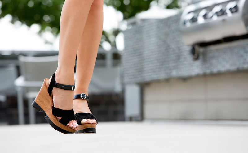 DV by Dolce Vita Jersey Wedge Sandals