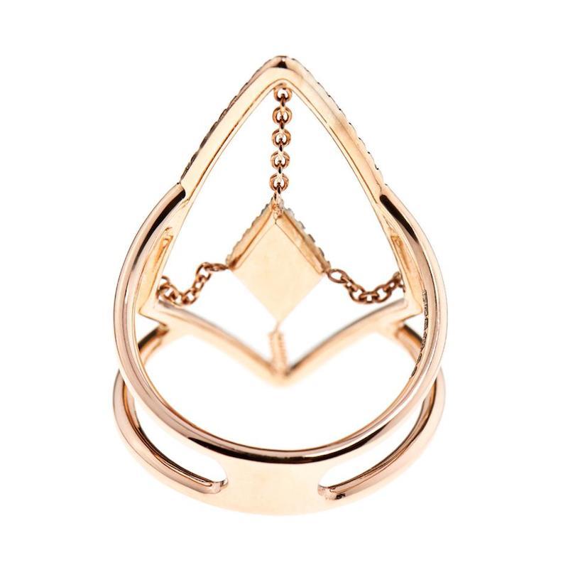 Diane Kordas Diamond & Rose-Gold Floating Ring_4