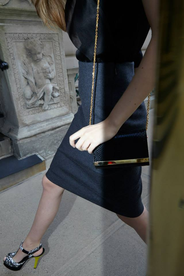 Fendi Felted Wool Pencil Skirt