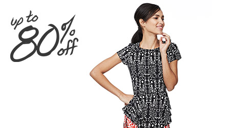 Final Few Apparel Up to 80 Off at Gilt