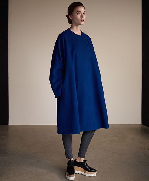 Freda Wool and Cashmere-blend Trapeze Coat
