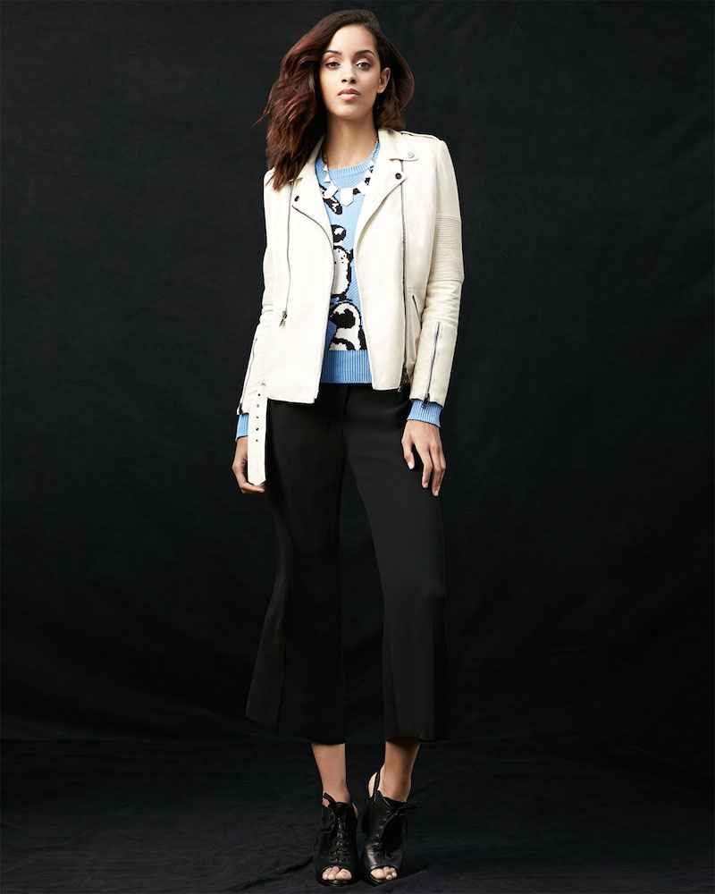 Haute Hippie Suede Long-Sleeve Moto Jacket