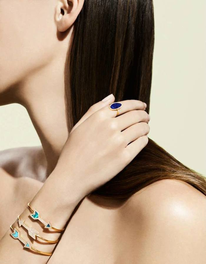 Jennifer Meyer Diamond & Lapis Ring