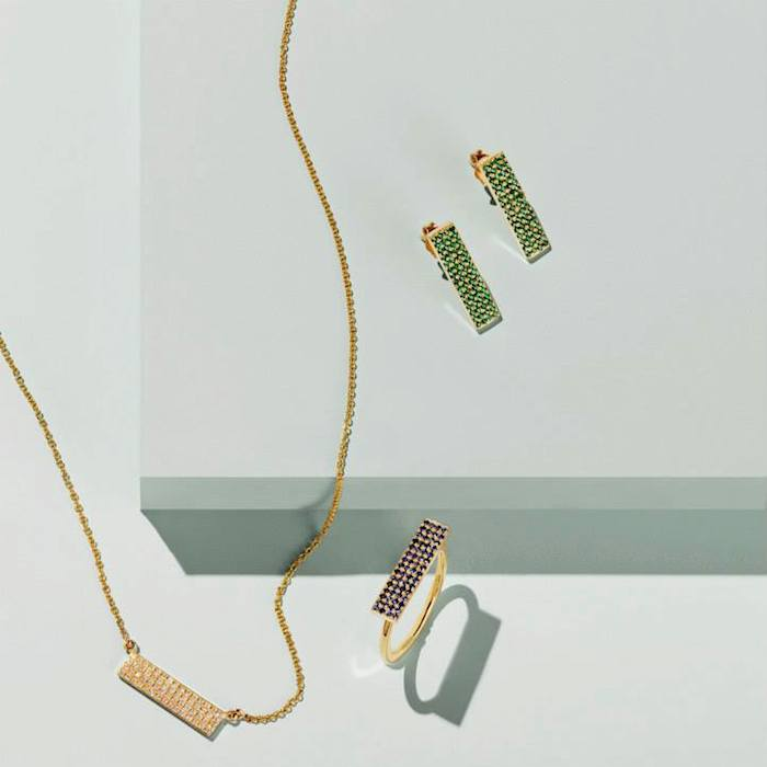 Jennifer Meyer Sapphire & Gold Rectangle Ring