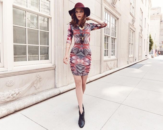 Juma Printed Criss-Cross Back Dress