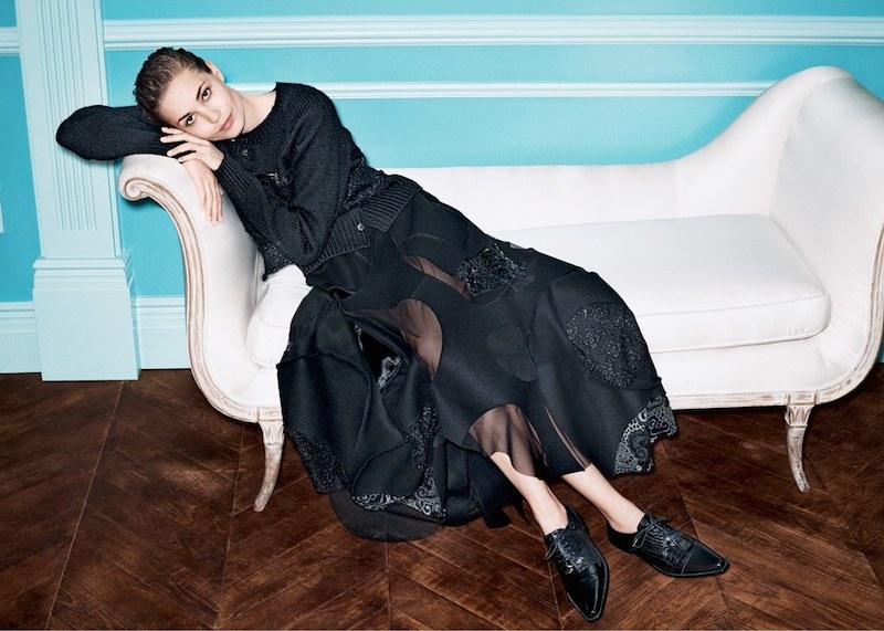 Junya Watanabe Melton Wool Blend Midi Skirt