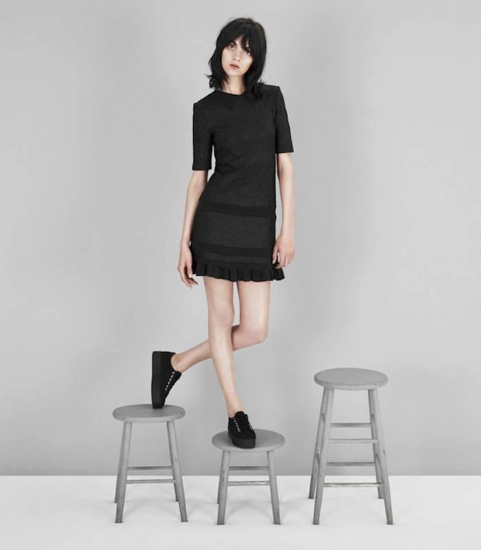 Kenzo Shimmery Knit Flounce Dress