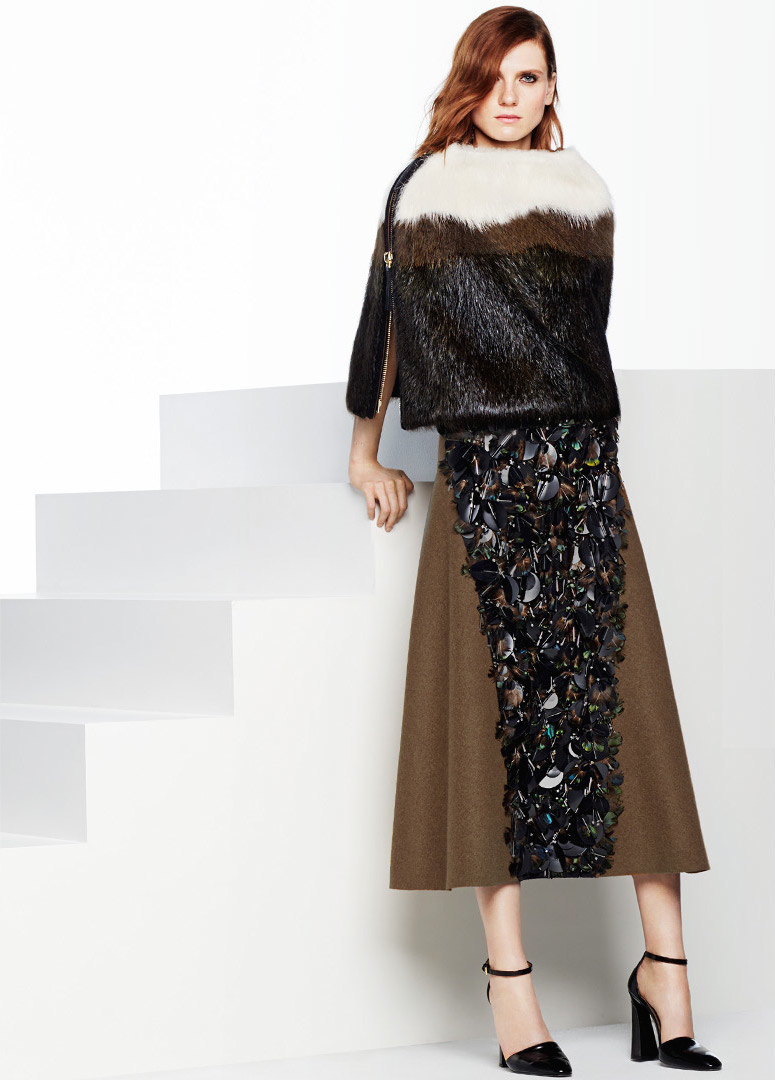 Marni Embellished Midi Skirt